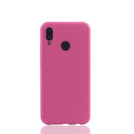 Huawei P20 Lite Handy-Hülle Schutz-Case Full-Cover Panzer Schutz Glas Pink – Bild 2