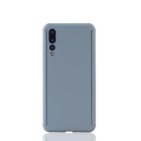 Huawei P20 Pro Handy-Hülle Schutz-Case Full-Cover Panzer Schutz Glas Grau – Bild 2