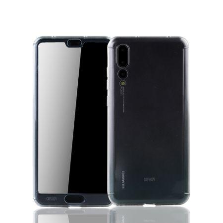 Huawei P20 Pro Handy-Hülle Schutz-Case Full-Cover Panzer Schutz Glas Transparent