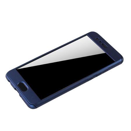 Huawei P10 Plus Handy-Hülle Schutz-Case Full-Cover Panzer Schutz Glas Blau – Bild 4