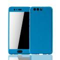 Huawei P10 Plus Handy-Hülle Schutz-Case Full-Cover Panzer Schutz Glas Hellblau 001