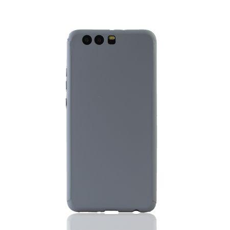 Huawei P10 Plus Handy-Hülle Schutz-Case Full-Cover Panzer Schutz Glas Grau – Bild 2