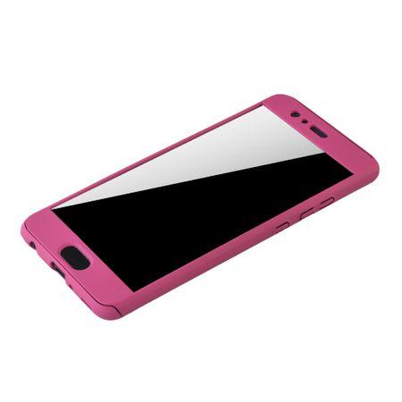 Huawei P10 Plus Handy-Hülle Schutz-Case Full-Cover Panzer Schutz Glas Pink – Bild 4