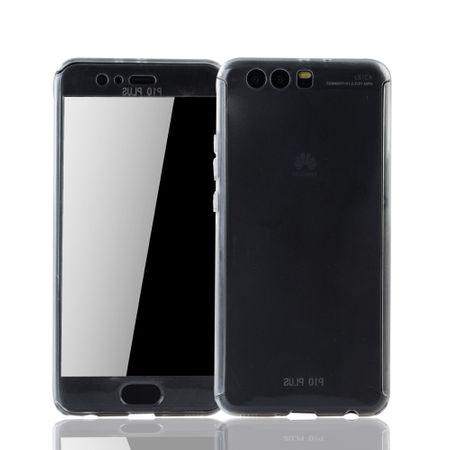 Huawei P10 Plus Handy-Hülle Schutz-Case Fullcover Panzer Schutz Glas Transparent