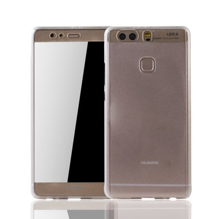 Huawei P9 Plus Handy-Hülle Schutz-Case Full-Cover Panzer Schutz Glas Transparent