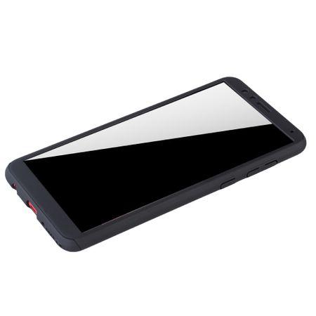 Huawei Honor 7X Handy-Hülle Schutz-Case Full-Cover Panzer Schutz Glas Schwarz – Bild 4