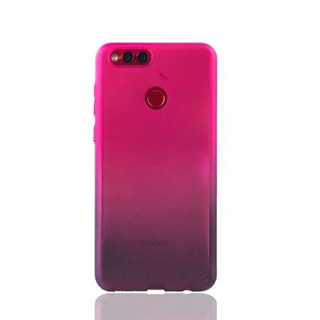 Huawei Honor 7X Handy-Hülle Schutz-Case Cover Panzer Schutz Glas Pink / Violett – Bild 2