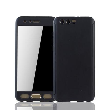 Huawei Honor 9 Handy-Hülle Schutz-Case Full-Cover Panzer Schutz Glas Schwarz