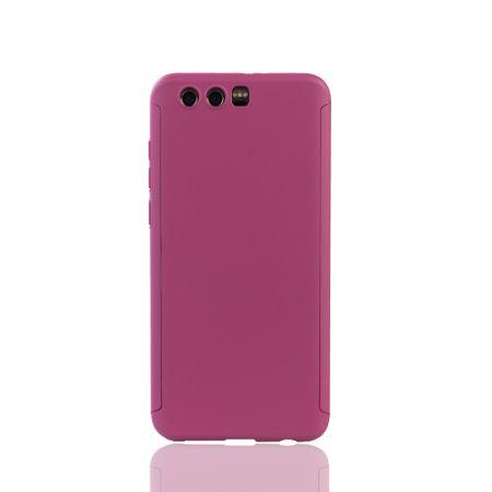 Huawei Honor 9 Handy-Hülle Schutz-Case Full-Cover Panzer Schutz Glas Pink – Bild 2