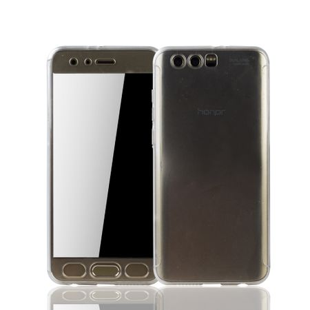 Huawei Honor 9 Handy-Hülle Schutz-Case Full-Cover Panzer Schutz Glas Transparent