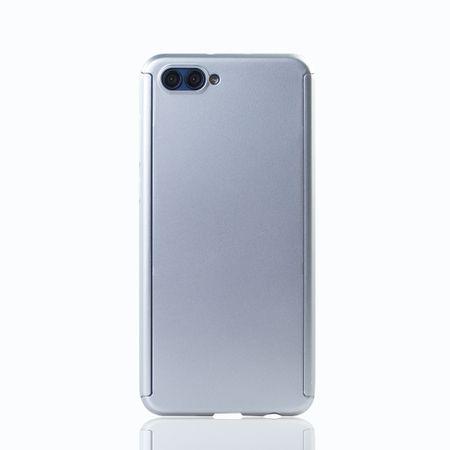 Huawei Honor View 10 Handy-Hülle Schutz-Case Full-Cover Panzer Schutz Glas Silber – Bild 2