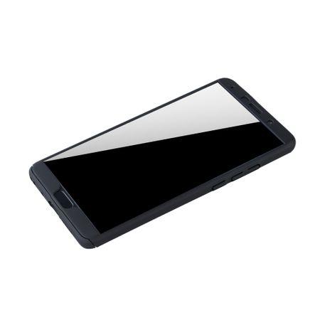 Huawei Mate 10 Handy-Hülle Schutz-Case Cover Panzer Schutz Glas Schwarz – Bild 4