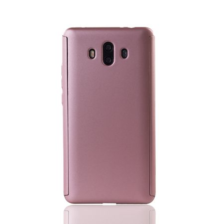 Huawei Mate 10 Handy-Hülle Schutz-Case Full-Cover Panzer Schutz Glas Rose – Bild 2