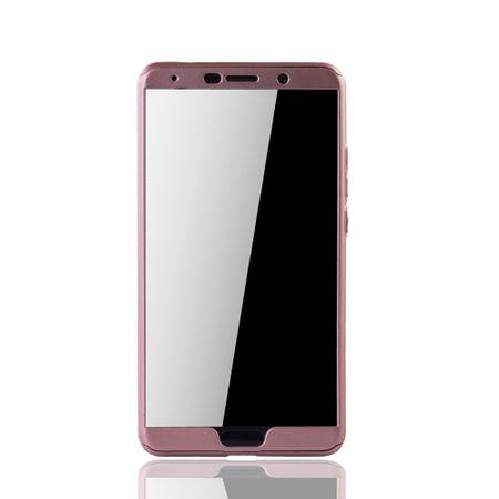 Huawei Mate 10 Handy-Hülle Schutz-Case Full-Cover Panzer Schutz Glas Rose – Bild 3