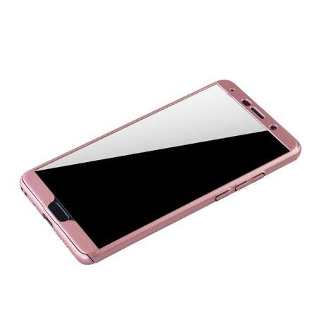 Huawei Mate 10 Handy-Hülle Schutz-Case Full-Cover Panzer Schutz Glas Rose – Bild 4