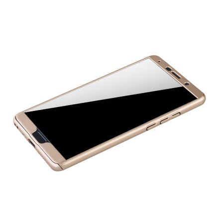 Huawei Mate 10 Handy-Hülle Schutz-Case Full-Cover Panzer Schutz Glas Gold – Bild 4
