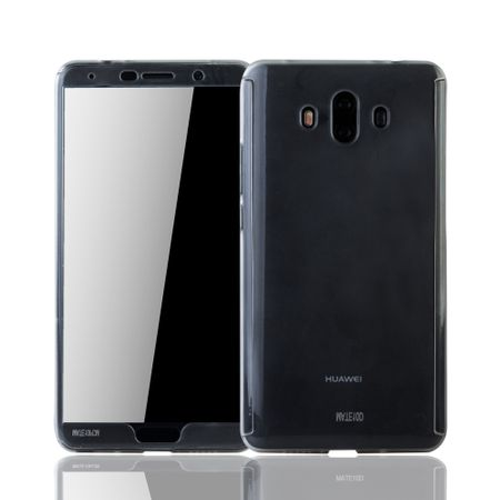 Huawei Mate 10 Handy-Hülle Schutz-Case Full-Cover Panzer Schutz Glas Transparent