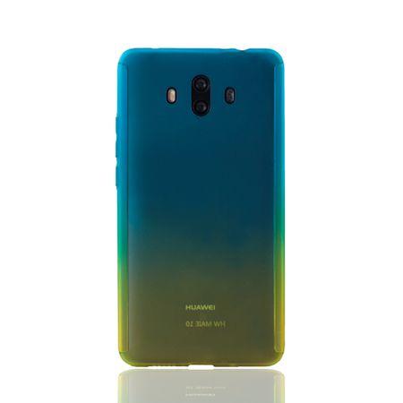 Huawei Mate 10 Handy-Hülle Schutz-Case Full-Cover Panzer Schutz Glas Blau / Gelb – Bild 2