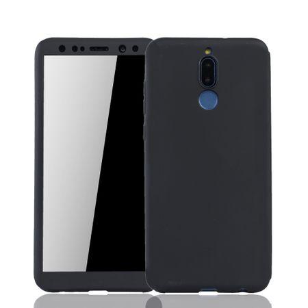 Huawei Mate 10 Lite Handy-Hülle Schutz-Case Fullcover Panzer Schutz Glas Schwarz