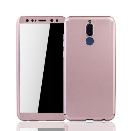 Huawei Mate 10 Lite Handy-Hülle Schutz-Case Full-Cover Panzer Schutz Glas Rose