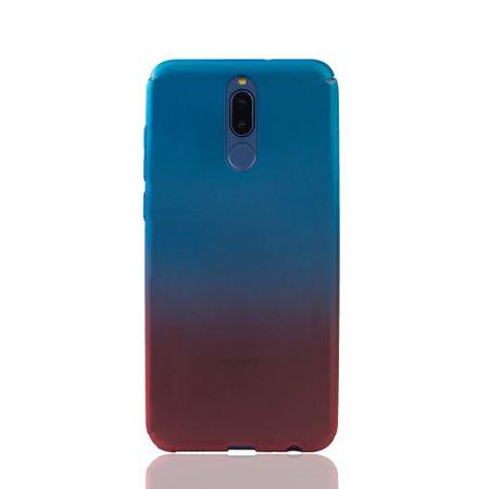 Huawei Mate 10 Lite Handy-Hülle Schutz-Case Cover Panzer Schutz Glas Blau / Rot – Bild 2