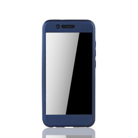 Huawei Nova 2 Handy-Hülle Schutz-Case Full-Cover Panzer Schutz Glas Blau – Bild 3