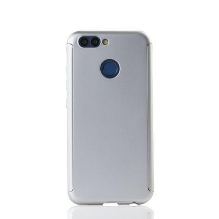 Huawei Nova 2 Handy-Hülle Schutz-Case Full-Cover Panzer Schutz Glas Silber – Bild 2