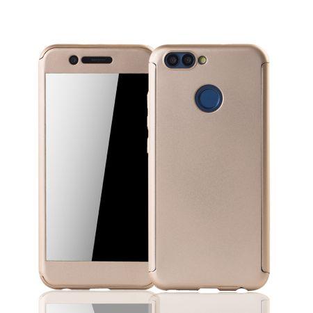Huawei Nova 2 Handy-Hülle Schutz-Case Full-Cover Panzer Schutz Glas Gold