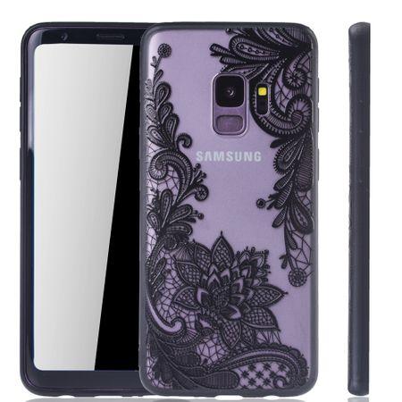Handy Hülle Mandala für Samsung Galaxy S9 Design Case Schutzhülle Motiv Blüte Cover Tasche Bumper Schwarz – Bild 1
