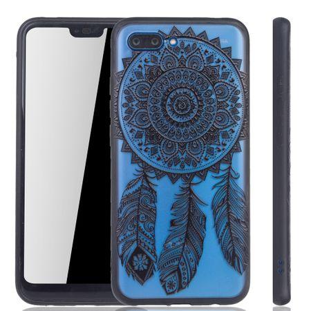 Handy Hülle Mandala für Huawei Honor 10 Design Case Schutzhülle Motiv Traumfänger Cover Tasche Bumper Schwarz
