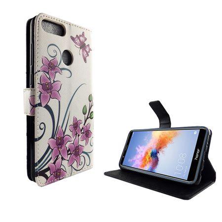 Handyhülle Tasche für Handy Huawei Honor 7X Lotusblume – Bild 5