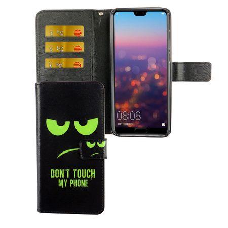Handyhülle Tasche für Handy Huawei P20 Pro Dont Touch My Phone Grün – Bild 4