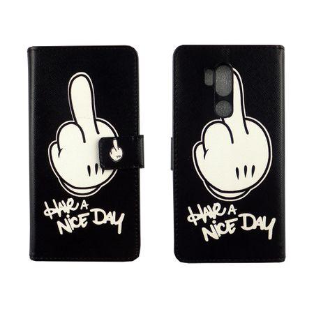 Handyhülle Tasche für Handy LG G7 ThinQ Have A Nice Day Schwarz – Bild 3