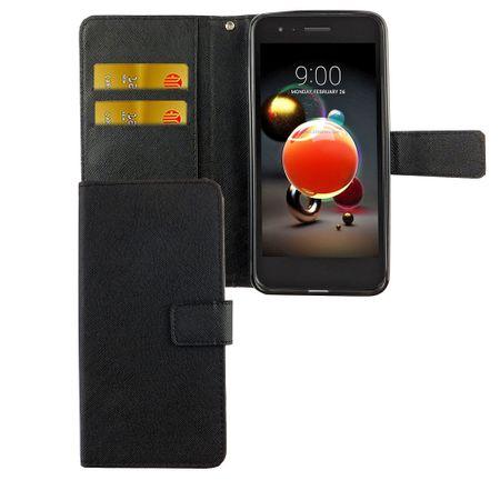 Handyhülle Tasche für Handy LG K8 / K9 2018 Schwarz