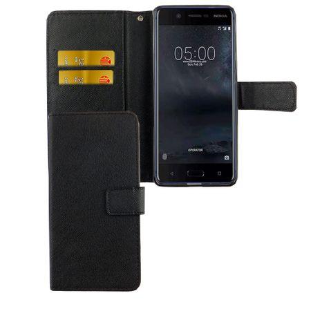 Handyhülle Tasche für Handy Nokia 5.1 2018 Schwarz