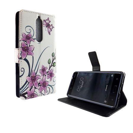 Handyhülle Tasche für Handy Nokia 5.1 2018 Lotusblume – Bild 5