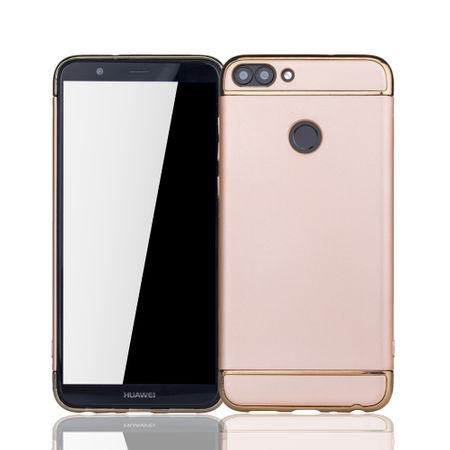 Huawei Honor 7s Handy Hülle Schutz Case Bumper Hard Cover Gold