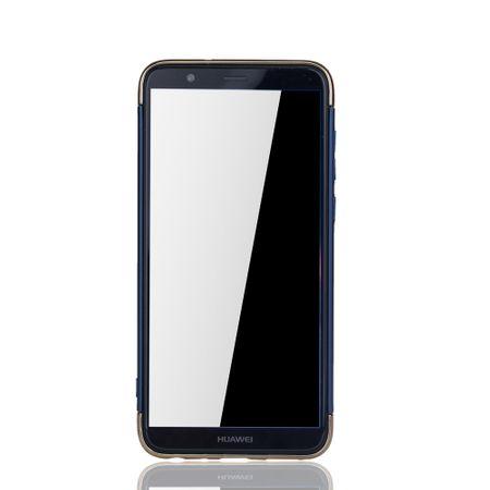 Huawei Honor 7s Handy Hülle Schutz Case Bumper Hard Cover Blau – Bild 3