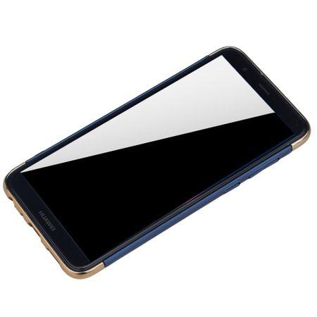 Huawei Honor 7s Handy Hülle Schutz Case Bumper Hard Cover Blau – Bild 4