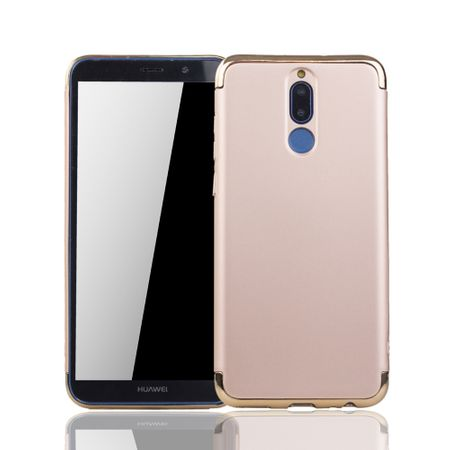 Huawei Mate 10 Lite Handy Hülle Schutz Case Bumper Hard Cover Gold