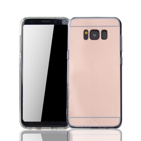 Samsung Galaxy S8 Handy-Hülle Spiegel Mirror Soft-Case Schutz-Cover Rose Gold