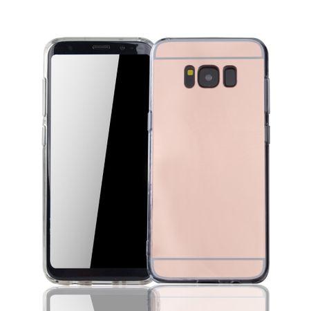 Samsung Galaxy S8 Handy-Hülle Spiegel Mirror Soft-Case Schutz-Cover Rose Gold