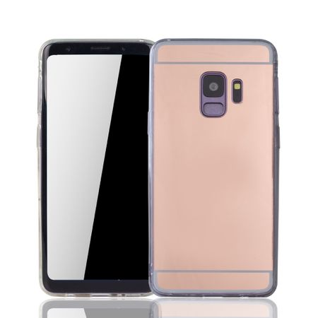 Samsung Galaxy S9 Handy-Hülle Spiegel Mirror Soft-Case Schutz-Cover Rose Gold