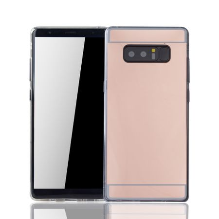 Samsung Galaxy Note 8 Handy-Hülle Spiegel Mirror Soft-Case Schutz-Cover Rose Gold