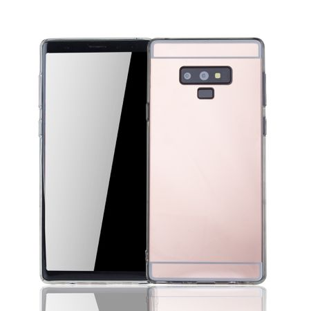 Samsung Galaxy Note 9 Handy-Hülle Spiegel Mirror Soft-Case Schutz-Cover Rose Gold