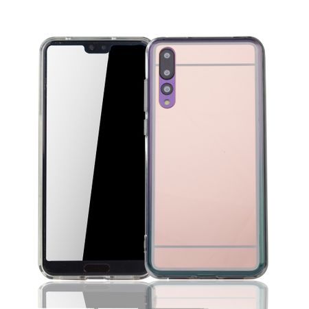 Huawei P20 Pro Handy-Hülle Spiegel Mirror Soft-Case Schutz-Cover Rose Gold