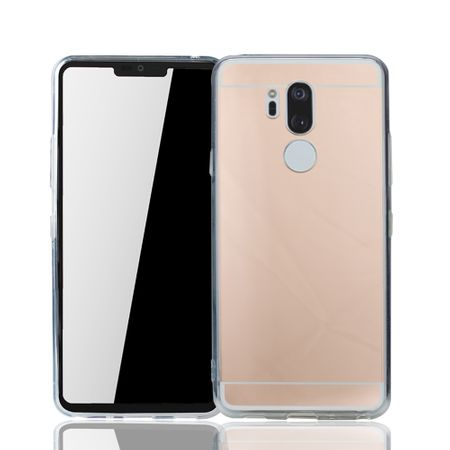 LG G7 Handy-Hülle Spiegel Mirror Soft-Case Schutz-Cover Rose Gold