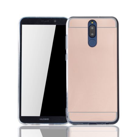Huawei Mate 10 Lite Handy-Hülle Spiegel Mirror Soft-Case Schutz-Cover Rose Gold