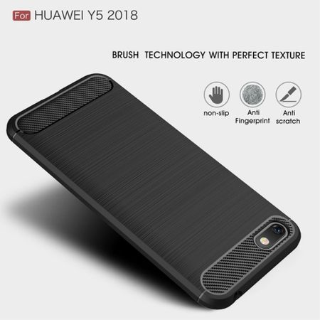 Huawei Honor 7s TPU Case Carbon Fiber Optik Brushed Schutz Hülle Blau – Bild 4