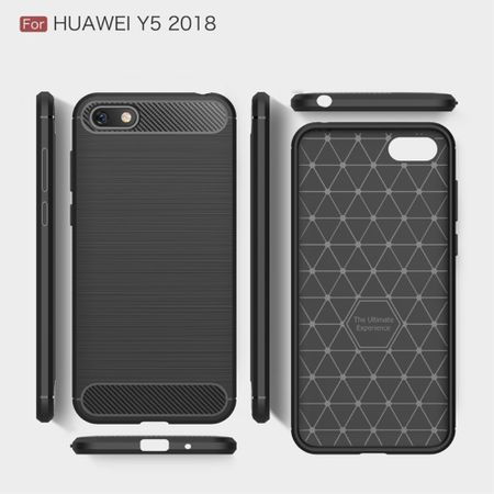 Huawei Honor 7s TPU Case Carbon Fiber Optik Brushed Schutz Hülle Blau – Bild 5